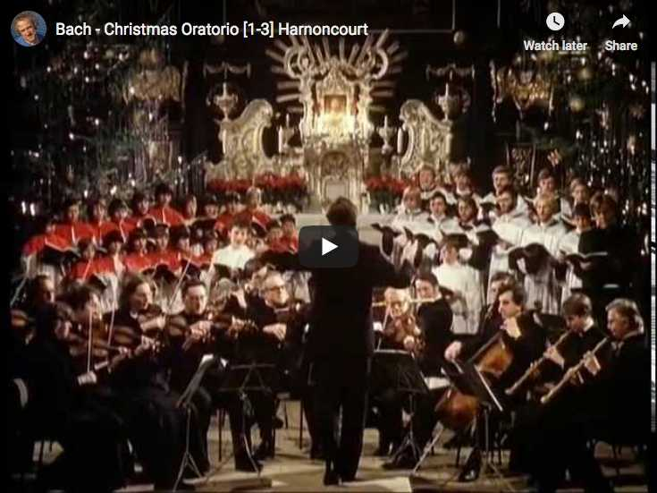 Nikolaus Harnoncourt conducts Bach's Christmas Oratorio