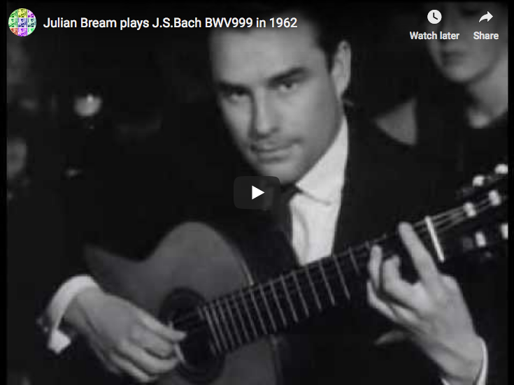 Bach - Prelude BWV 999 in C-minor - Bream, Guitar