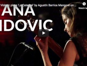 The guitarist Ana Vidovic is playing Barrios' most famous piece, La Catedral