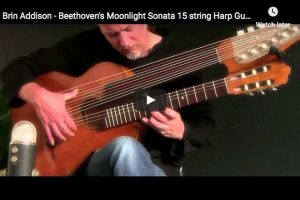Beethoven – Moonlight Sonata, 1st Movement, Harp Guitar – Addison, Guitar