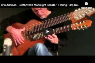 Beethoven - Moonlight Sonata, 1st Movement, Harp Guitar - Addison, Guitar