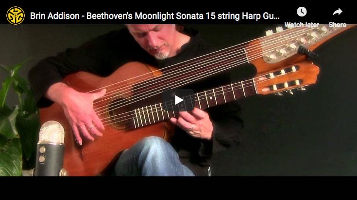 Beethoven - Moonlight Sonata, 1st Movement, Harp Guitar - Addison, Guitar
