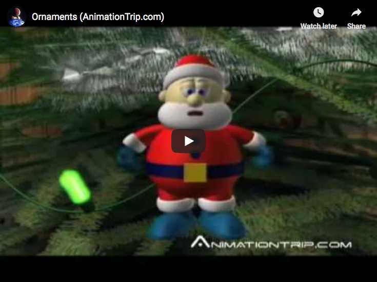A Pixar short animation movie. Santa Claus is hungry for some cookies!