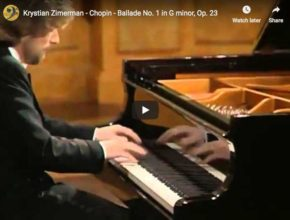 Krystian Zimerman plays Chopin's Ballade No 1 for piano in G minor