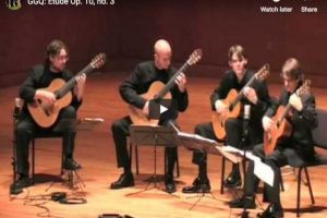 Chopin – Etude Op. 10 No. 3 – Georgia Guitar Quartet