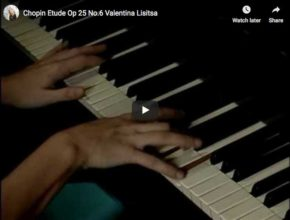 Valentina Lisitsa plays Chopin's Etude Op. 25 No. 6 in G-sharp minor