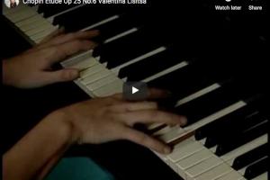 Chopin – Etude No 6 Op 25 in G-Sharp Minor – Lisitsa, Piano