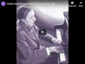 The French pianist Alfred Cortot is playing Chopin's Fantaisie-Impromptu