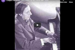 Chopin – Fantaisie-Impromptu in C-Sharp Minor – Cortot, Piano