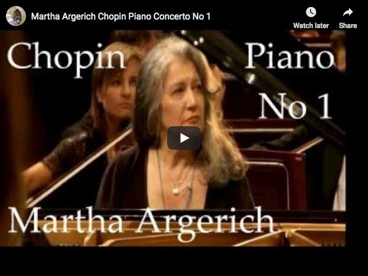 Martha Argerich is playing Chopin's piano concerto No. 1