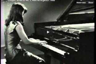 Chopin - Scherzo No. 2 - Argerich, Piano