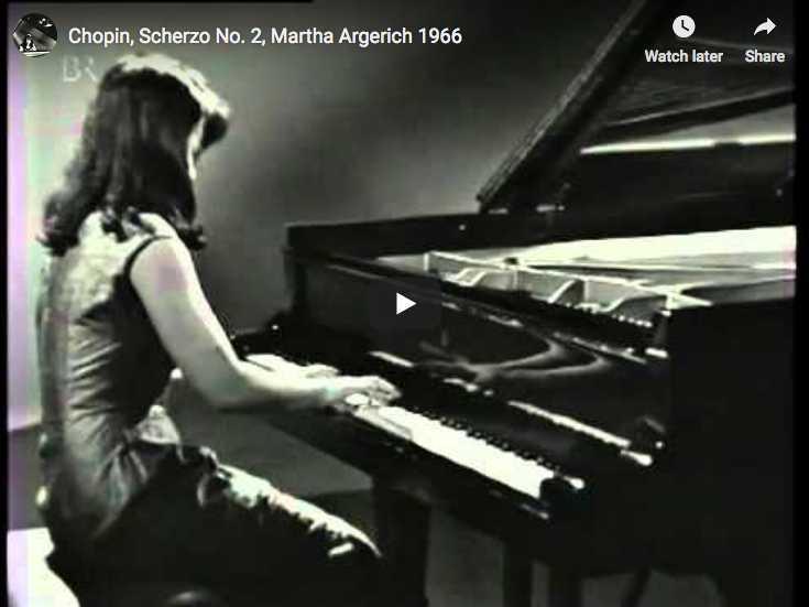 Martha Argerich plays Chopin's Scherzo No 2 in B-flat minor