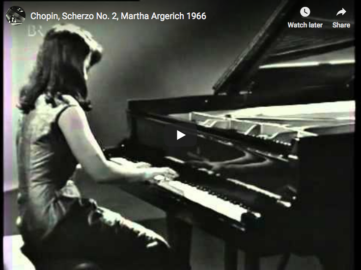 Chopin - Scherzo No 2 in B-Flat Minor - Argerich, Piano