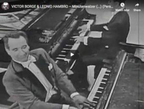 Victor Borge and Leonid Hambro play Chopin's Waltz No. 6 knows at Minute Waltz