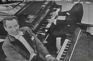 Chopin - Waltz No 6 in D-flat major - Borge and Hambro, Piano