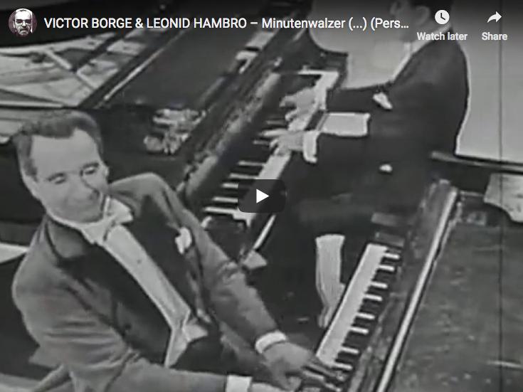 Chopin – Waltz No 6 in D-flat major – Borge and Hambro, Piano