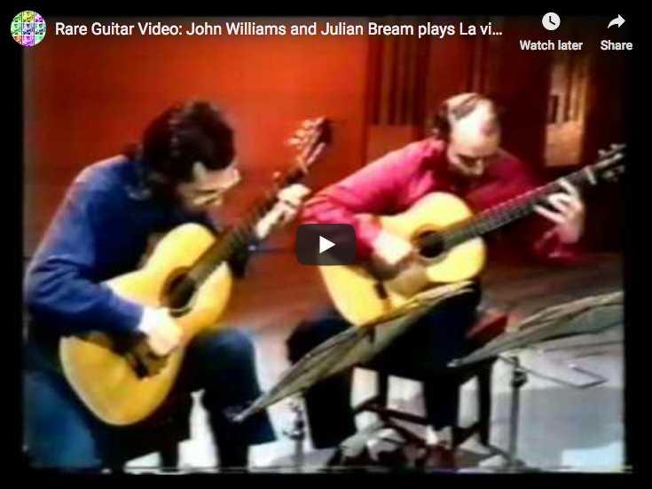 The guitarist Julian Bream and John Williams play The Spanish Dance from Manuel de Falla's opera, La Vida Breve