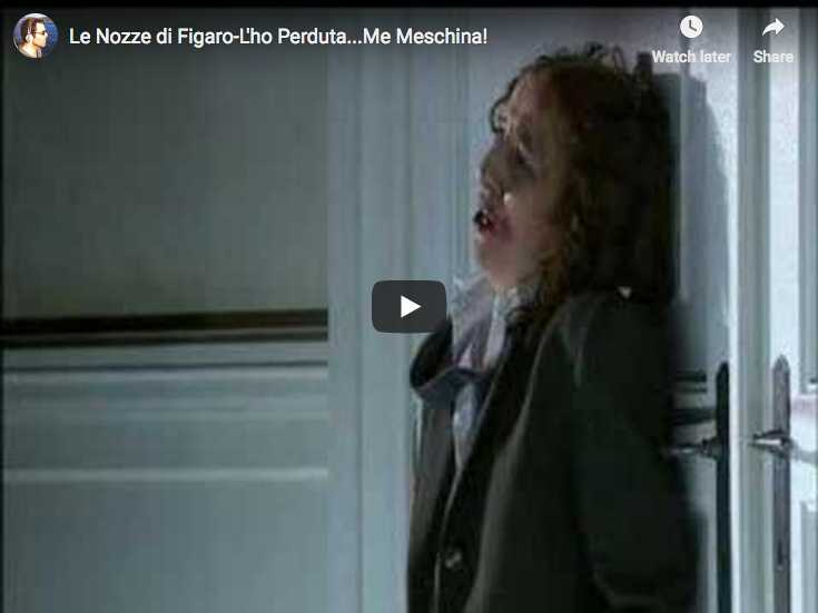 Christine Schäfer sings l'aria L'ho perduta opening Mozart's opera The Marriage of Figaro IV act