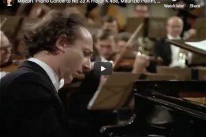 Mozart – Piano Concerto No. 23 – Pollini, Bohm