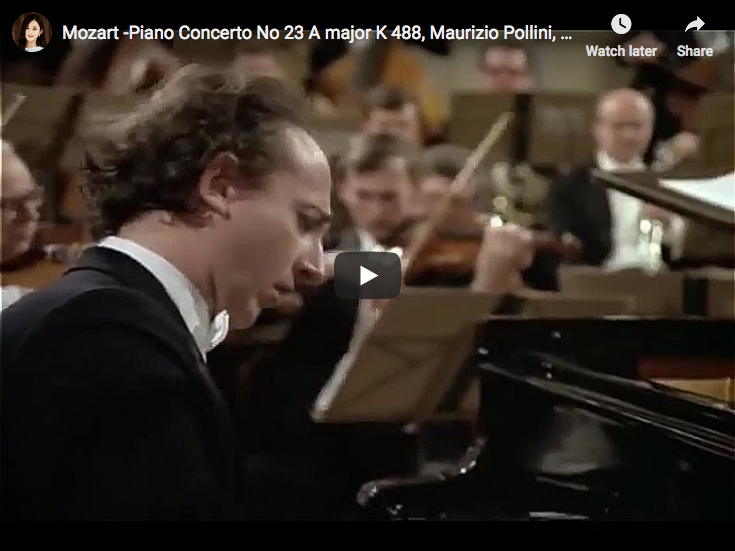 Mozart - Piano Concerto No 23 in A major - Pollini, Bohm