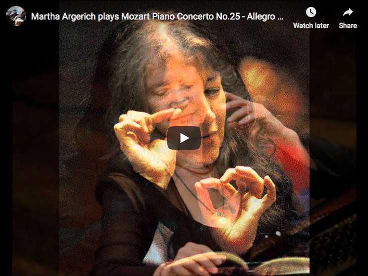 Martha Argerich plays Mozart's Piano Concert No 25 in C Major