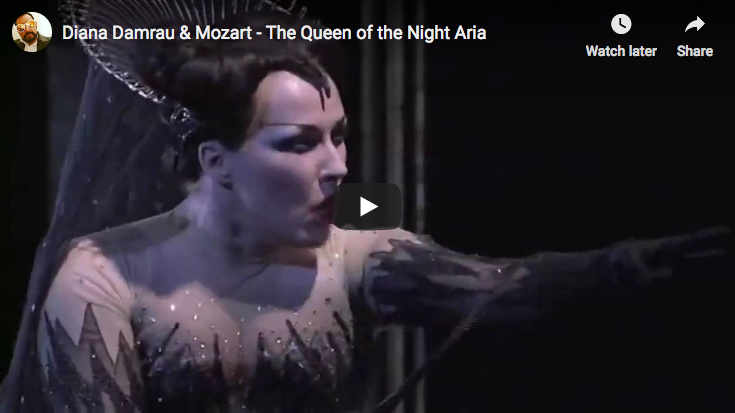 Diana Damrau is singing Mozart's The Magic Flute famous aria, Queen of the Night