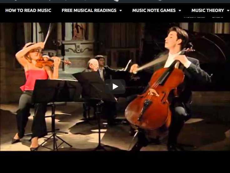 André Previn, Anne-Sophie Mutter, Daniel Müller-Schott play Mozart's trio No 5 in C major