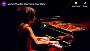 The Chinese star pianist Yuja Wang plays Mozart-Volodos Turkish March as encore