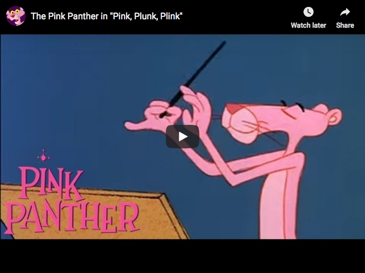 Pink Panther Theme against Beethoven Symphony No 5