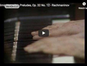 Horowitz plays Rachmaninov's Prelude Op. 32 No 12 in G sol minor
