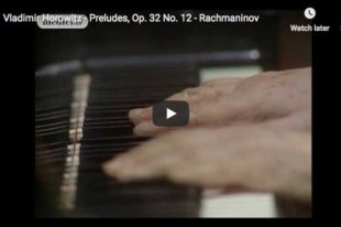 Rachmaninoff - Prelude No 12 in G-sharp minor - Horowitz, Piano