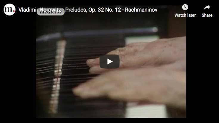 Horowitz plays Rachmaninov's Prelude Op. 32 No 12 in G sol minor