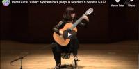 Scarlatti – Sonata in A major K 322 – Kyuhee Park, Guitar
