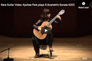 Scarlatti - Sonata in A major K. 322 - Kyuhee Park, Guitar