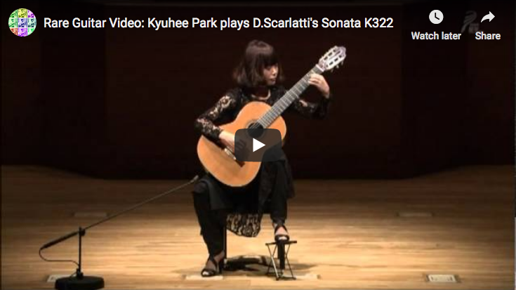 Scarlatti - Sonata in A major K. 322 - Kyuhee Park, Guitar