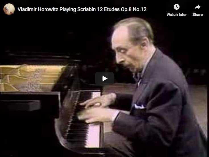 Vladimir Horowitz plays Alexander Scriabin's Etude No 12 in D-sharp minor