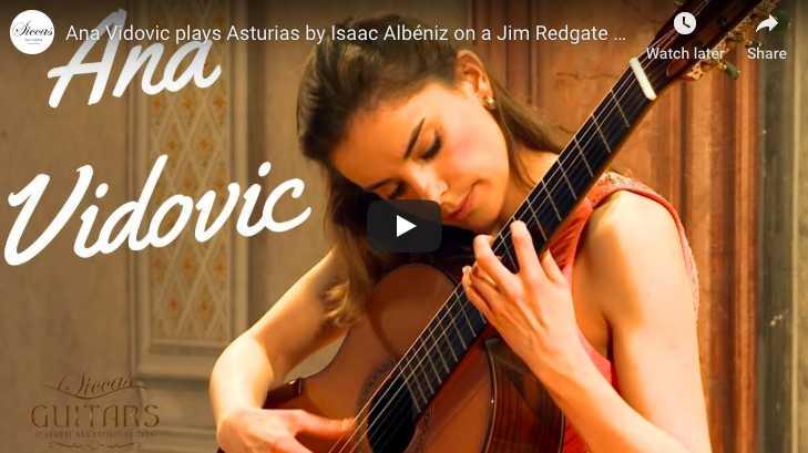 The guitarist Anna Vidovic performs Asturias (Leyenda) from Isaac Albéniz
