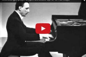 Chopin – Berceuse in D-Flat Major – Michelangeli, Piano
