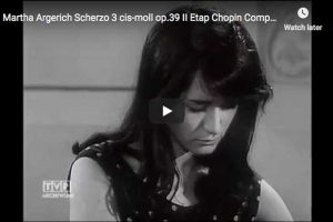 Chopin – Scherzo No. 3 – Argerich, Piano