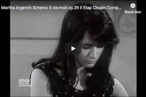 Chopin – Scherzo No. 3 – Martha Argerich, Piano