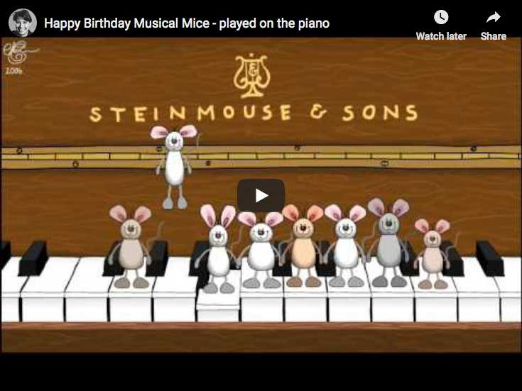 Happy Birthday Musical Mice ! - Piano Version