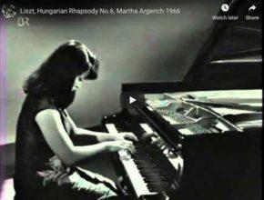 Martha Argerich plays Franz Liszt's Hungarian Rhapsody No 6