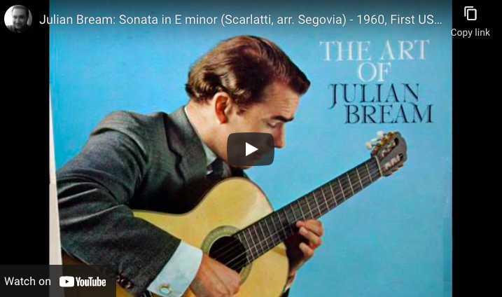 Julian Bream playing guitar