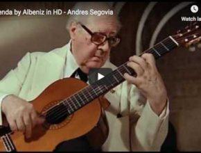 The guitarist Andrès Segovia performs Asturias (Leyenda) from Isaac Albéniz