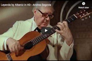 Albéniz - Asturias (Leyenda) - Segovia, Guitar