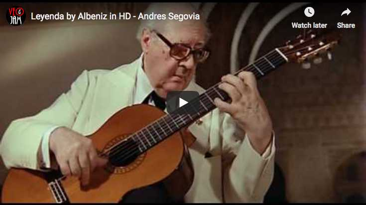 The guitarist Andrès Segovia performs Asturias (Leyenda) from Isaac Albéniz