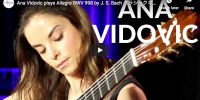Bach – Allegro BWV 998 in E-flat major – Vidovic, Guitar