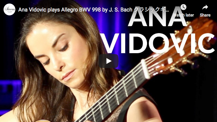 Bach - Allegro BWV 998 in E-flat major - Vidovic, Guitar