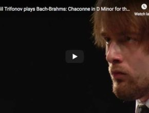 The Russian pianist Daniil Trifonov performs the transcription for piano for the left hand made by Brahms of Bach's Chaconne from his Partita No. 2 in D minor for violin
