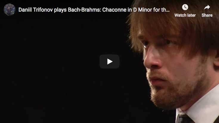 Bach, Chaconne in D Minor - Left hand transcription by Brahms, Daniil Trifonov piano